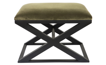 Spencer Stool - Moss with Black Frame (cl)