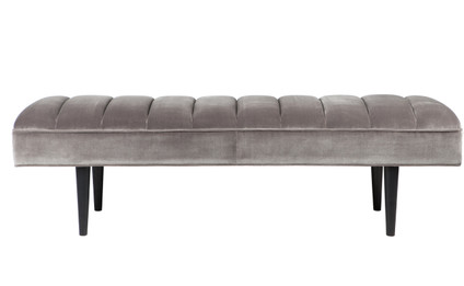 Central Park Panelled Bench Ottoman - Charcoal (cl)