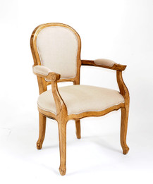 Jean-Paul Armchair - Natural Linen - American Oak Timber