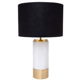 Paola Table Lamp - White w Black Shade (cl)