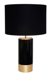 Paola Table Lamp - Black w Black Shade (cl)