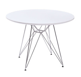 Replica Eames DSR Dining Table-White or Black-120cm