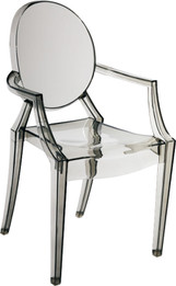 Replica Louis Ghost Chair - Transparent Grey/Smoke