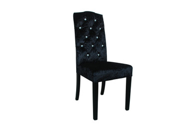 French Provincial Dining Chairs - Special Velvet/sparks - Walnut Legs