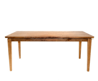 American Oak Timber Dining Table with rounded corners & oak legs