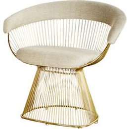 Replica Warren Platner Armchair-Premium Gold with Premium Velvet