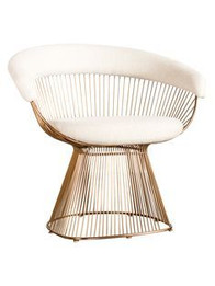 Replica Warren Platner Armchair-Premium Rose Gold with Premium Velvet