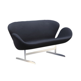 Replica Arne Jacobsen Swan Sofa - Wool Blend - Black