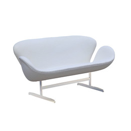 Replica Arne Jacobsen Swan Sofa - Wool Blend - White
