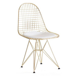 Replica Ray & Charles Eames DKR Wire Chair - Gold - various colour seat cushion only