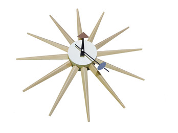 Replica George Nelson Sunburst Clock - Natural Timber colour