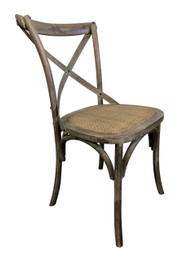 Cross Dining Chairs - American Oak - Grey-Washed Finish