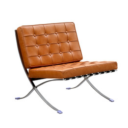 Replica Barcelona chair-cognac Italian leather with PU pipping & buttons