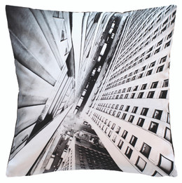Vertical City Cotton Printed Cushion (iv)