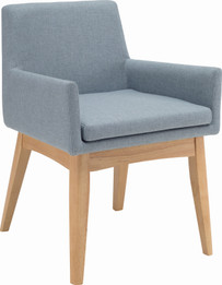Maya Arm Chair Natural/Aquamarine (iv)