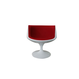 Replica Cup/Cognac Chair - Full White with red cushion