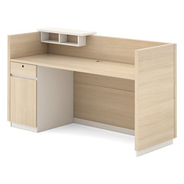 Clark Reception Desk W/Cabinet180X60X105 (iv)