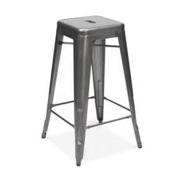 Replica Tolix Stool - Powder-coated black, white or Gun Metal - 76cm