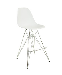 Replica Eames DSR Barstool - plastic, chrome legs- various colours