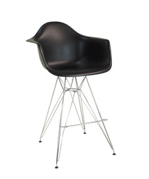 Replica Eames DAR Barstool - plastic, chrome legs- various colours