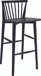 Birdy Bar Stool Black Open Pore (125) (iv)