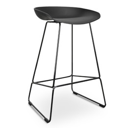 CBS2006-SD 65cm Bar Stool - Black Seat With Black Frame (cf)
