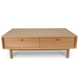 CCF2013-VN 110cm Rectangle Coffee Table With Drawers - Natural (cf)