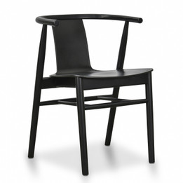 CDC673 Dining Chair - Black Shell - Black Seat (cf)