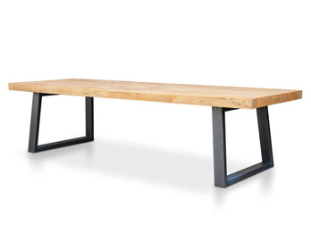CDT056 Reclaimed Elm Wood 3m Dining Table -120cm (W) (cf)
