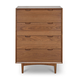CDT1047-VN 4 Drawer Chest Scandinavian Design - Walnut (cf)