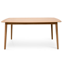 CDT1085-VN 1.6m Oak Fix Dining Table (cf)