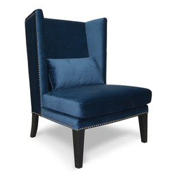 CLC2041-CAVelvet Lounge Chair in Navy Velvet Blue (cf)