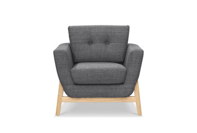 CLC721 Fabric Armchair - Metal Grey (cf)