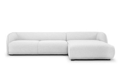 CLC724 3 SEATER RIGHT CHAISE SOFA - LIGHT TEXTURE GREY (cf)