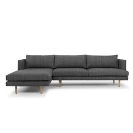 CLC764 3 Seater With Left Chaise - Metal Grey (cf)