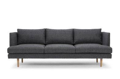 CLC767 3 Seater Fabric Sofa - Metal Grey (cf)