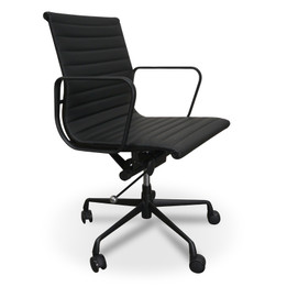 COC121 PU Leather Office Chair - Full Black (cf)