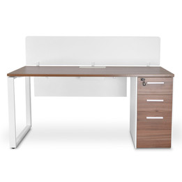 COT2089-SN 160cm Seater Office Desk With Privacy Screen - Upgraded... (cf)