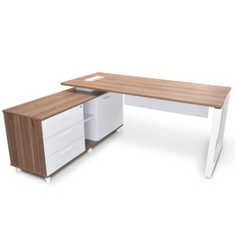 COT2090-SN 180cm Executive Office Desk With Left Return - Upgraded... (cf)