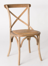 Cross Dining Chairs - American Oak Timber with Natural Rattan Seat
