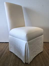 Caffe Dining Chairs - Premium 100% Natural Linen Fabric