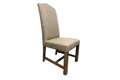 Cafe Dining Chairs - Premium Linen Fabric with American Oak legs