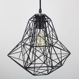 Cage Modern Wire Pendant Lamp - Large
