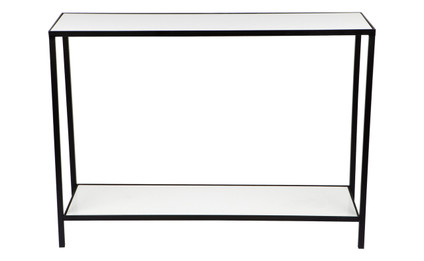 Cocktail Marble Console Table - White (cl)