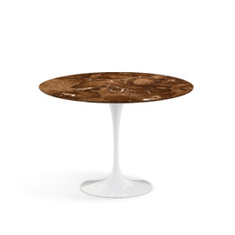 Replica Tulip Side or Coffee Table - Espresso Marble - 60cm
