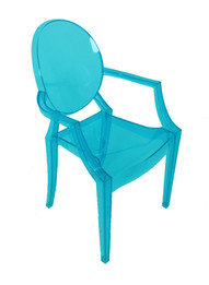 Replica Louis Ghost Chair - Transparent Aqua