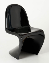 Replica Panton Chair Fibreglass Black - KIDS size