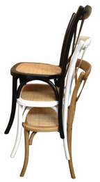 Cross Dining Chairs - American Oak - Various Colours - Stackable