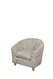 Bambino Upholstered Kids Chair -Patterned Fabric (bf)