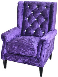 Bling Wingback Chair -Purple (bf)